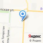 Салон ритуальных услуг на карте Альметьевска