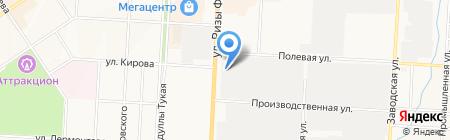 Городское управление автомобильных дорог на карте Альметьевска