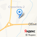Нижегородский монолит на карте Альметьевска