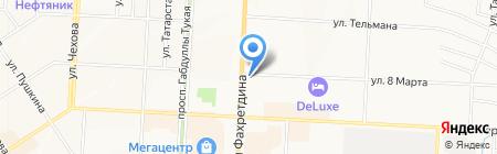 Булгар на карте Альметьевска