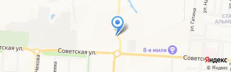 Автомобилист на карте Альметьевска