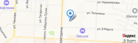 Детский сад №50 Лэйсэн на карте Альметьевска