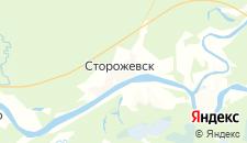 Отели города Сторожевск на карте