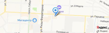 Магазин разливных духов на ул. Герцена на карте Альметьевска