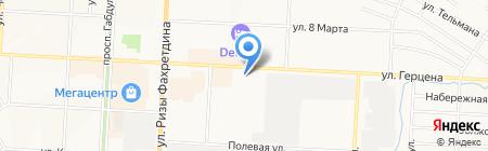 Акос на карте Альметьевска