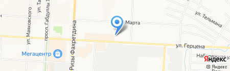 Киоск по ремонту часов на карте Альметьевска