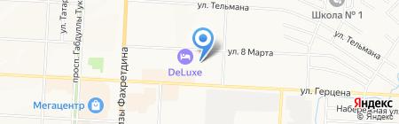 Детский сад №46 Золушка на карте Альметьевска