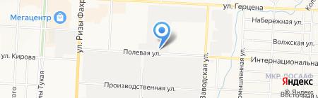 Мастак на карте Альметьевска