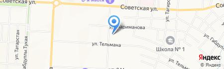 Магазин хозтоваров на ул. Сулеймановой на карте Альметьевска