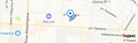 Альметьевский отдел управления Федеральной службы государственной регистрации на карте Альметьевска
