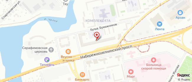 Карта расположения пункта доставки Набережные Челны Набережночелнинский в городе Набережные Челны