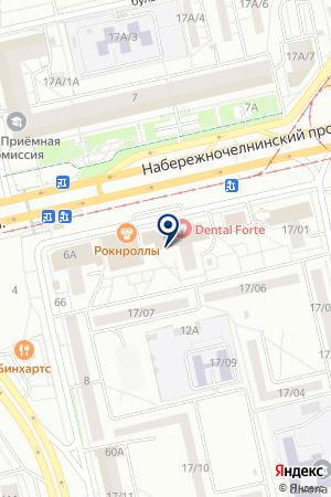 ВОЗРОЖДЕНИЕ на карте Набережных Челнов