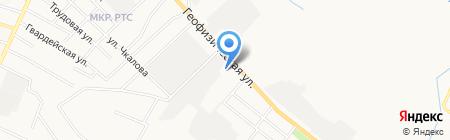Автомойка на ул. Тюленина на карте Альметьевска