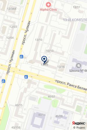 Роосса на карте Набережных Челнов
