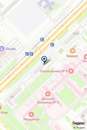 Медицинский центр Яхина М.Г. на карте Набережных Челнов