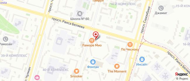 Карта расположения пункта доставки Набережные Челны Шамиля Усманова в городе Набережные Челны