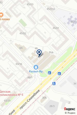 ТФ ВПРОК на карте Набережных Челнов