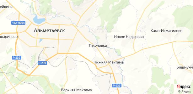 Тихоновка на карте