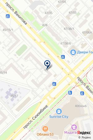 МЕБЕЛЬНЫЙ МАГАЗИН ИНТЕРЬЕР-ОФИС на карте Набережных Челнов