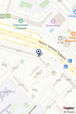 АЗС НАИКОМ на карте Набережных Челнов