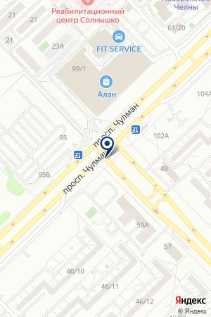 ГАРАЖНЫЙ КООПЕРАТИВ МОЛОТ на карте Набережных Челнов