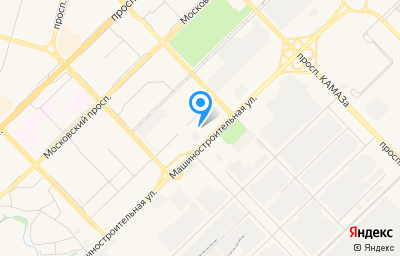 Местоположение на карте пункта техосмотра по адресу Респ Татарстан, г Набережные Челны, пр-кт Раиса Беляева, д 1