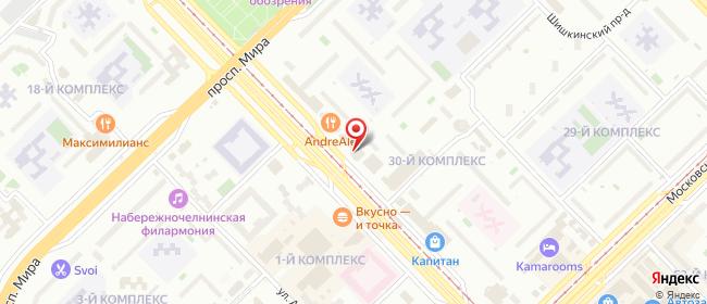 Карта расположения пункта доставки Набережные Челны Вахитова в городе Набережные Челны