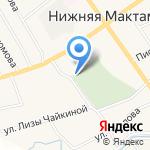 Нижнемактаминское кладбище №2 на карте Альметьевска