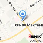 Светлана на карте Альметьевска