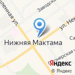 Нижнемактаминская средняя общеобразовательная школа №2 на карте Альметьевска