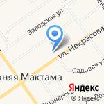 Нижнемактаминская средняя общеобразовательная школа №1 на карте Альметьевска