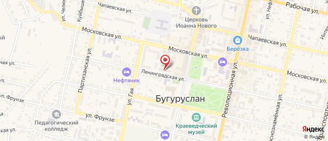 Карта расположения пункта доставки Ростелеком в городе Бугуруслан