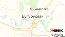Отели города Бугуруслан на карте