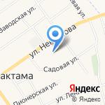 Нижнемактаминская библиотека №10 на карте Альметьевска