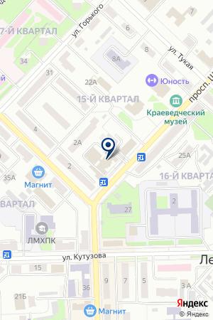 ЛЕНИНОГОРСКИЙ ФИЛИАЛ СТРАХОВАЯ КОМПАНИЯ АК БАРС-МЕД на карте Лениногорска