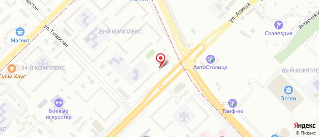 Карта расположения пункта доставки Набережные Челны Мира в городе Набережные Челны