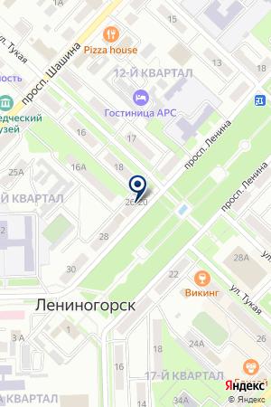 ЛЕНИНОГОРСКИЙ ДОПОЛНИТЕЛЬНЫЙ ОФИС КАМСКИЙ КОММЕРЧЕСКИЙ БАНК на карте Лениногорска