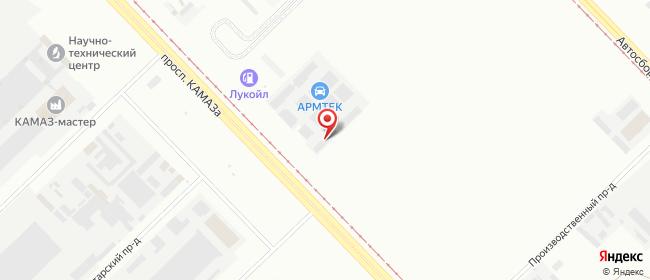 Карта расположения пункта доставки DPD Pickup в городе Набережные Челны