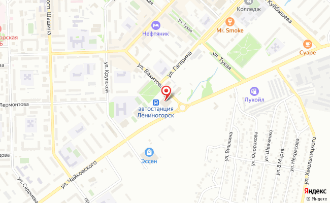 Карта расположения пункта доставки СИТИЛИНК в городе Лениногорск