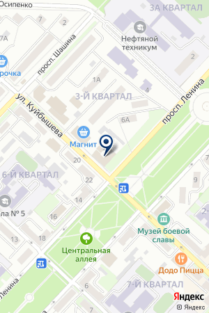 МЕДВЫТРЕЗВИТЕЛЬ на карте Лениногорска