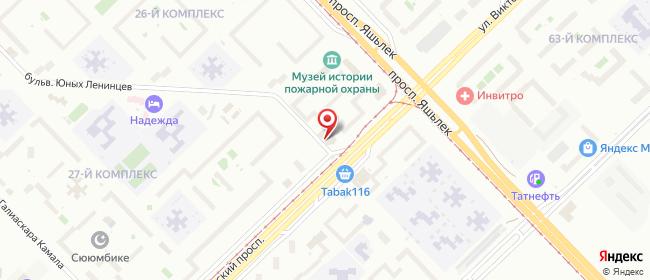 Карта расположения пункта доставки Набережные Челны Московский в городе Набережные Челны