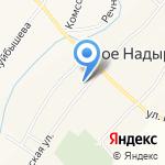 Новонадыровская средняя общеобразовательная школа на карте Альметьевска