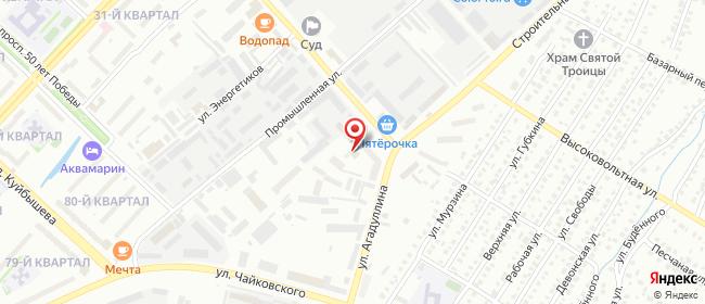 Карта расположения пункта доставки Лениногорск Агадуллина в городе Лениногорск