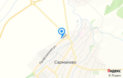 Местоположение на карте пункта техосмотра по адресу Респ Татарстан, с Сарманово, ул Профсоюзная, д 19, пом 1000
