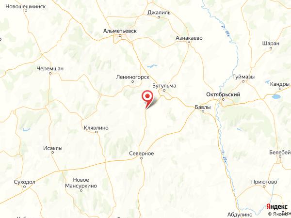 поселок станции Акбаш на карте