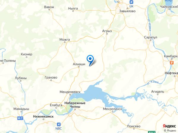 деревня Медведка на карте