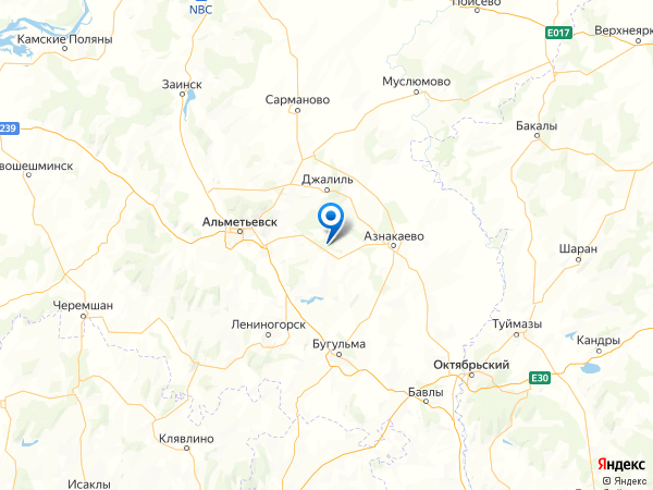 поселок Елга-Баш на карте