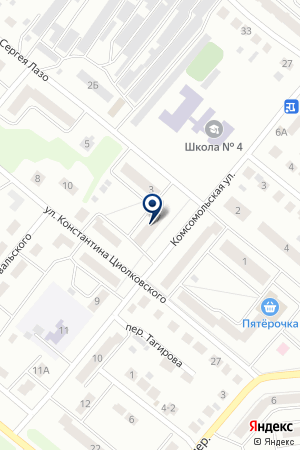 ШКОЛА СРЕДНЕГО ОБЩЕГО ОБРАЗОВАНИЯ № 4 на карте Бугульмы