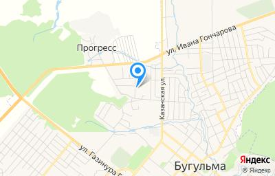 Местоположение на карте пункта техосмотра по адресу Респ Татарстан, г Бугульма, ул Сергея Кирова, д 49