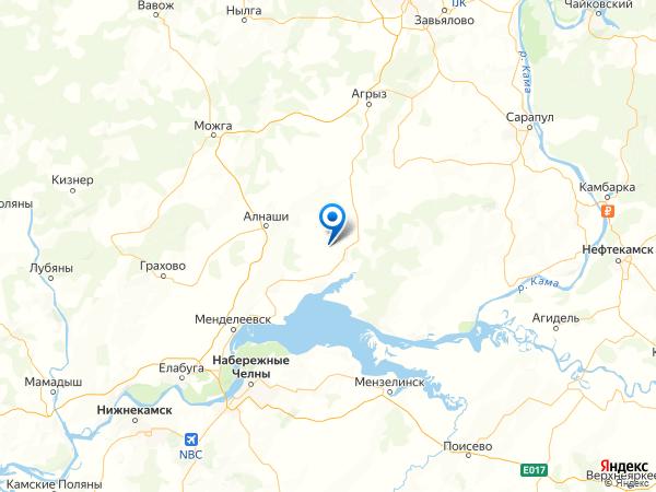 село Варзи-Ятчи на карте